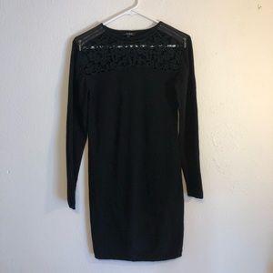 Black lace sweater dress by Yuka Paris